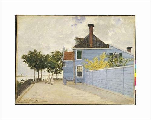 The Blue House, Zaandam by Claude Monet
