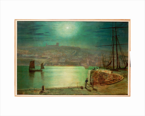 Whitby Harbour by Moonlight, 1870 by John Atkinson Grimshaw