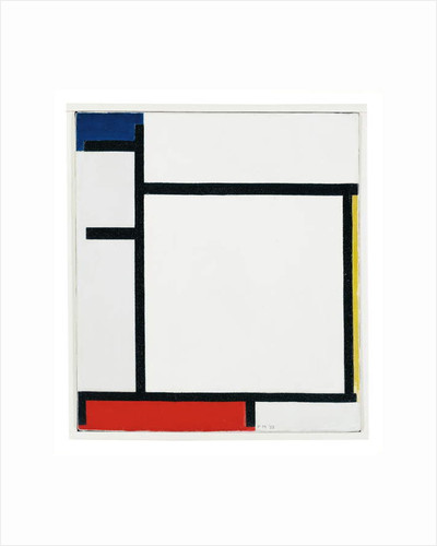 Composition with Blue, Yellow, Red and Grey, 1922 by Piet Mondrian