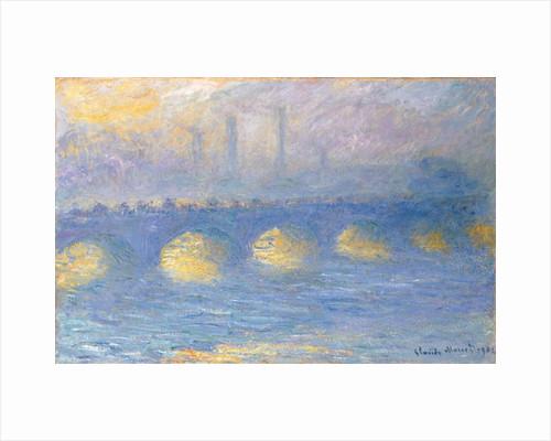 Waterloo Bridge, temps couvert, 1904 by Claude Monet