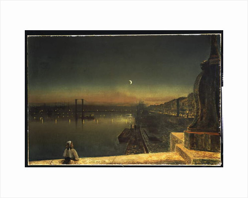 Rouen at Night from the Pont de Pierre, 1878 by John Atkinson Grimshaw
