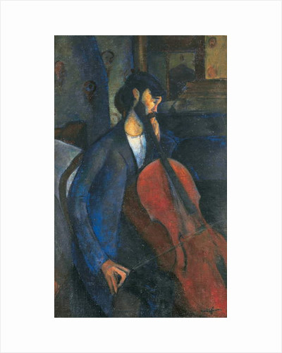 The Cellist, 1909 by Amedeo Modigliani