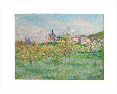 Printemps à Giverny, effet d'après-midi, 1885 by Claude Monet