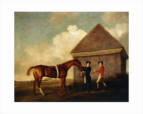 Eclipse, a Dark Chestnut Racehorse held by a Groom, with a Jockey, Possibly Jack Oakley by George Stubbs