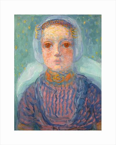 Zeeland Little Girl; Zeeuws Meisje, 1909-1910 by Piet Mondrian