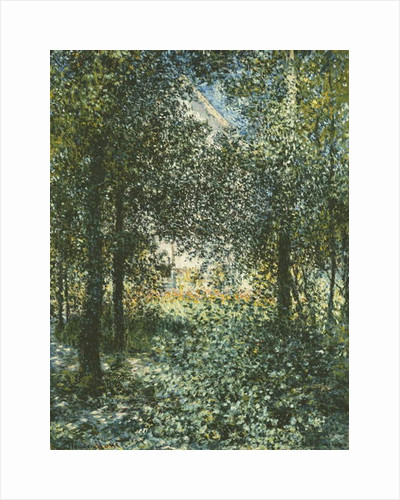 Thicket: The House of Argenteuil, 1876 by Claude Monet