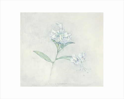 Two Japanese Lilys by Piet Mondrian