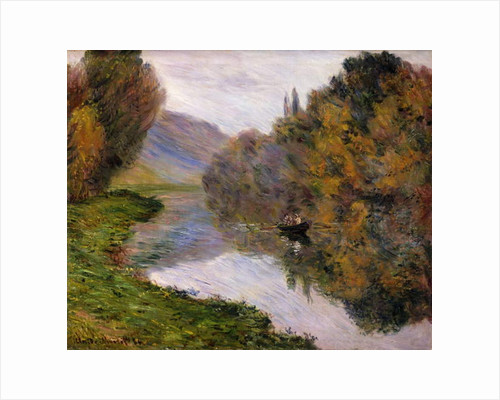 Boat on the Seine near Jeufosse by Claude Monet