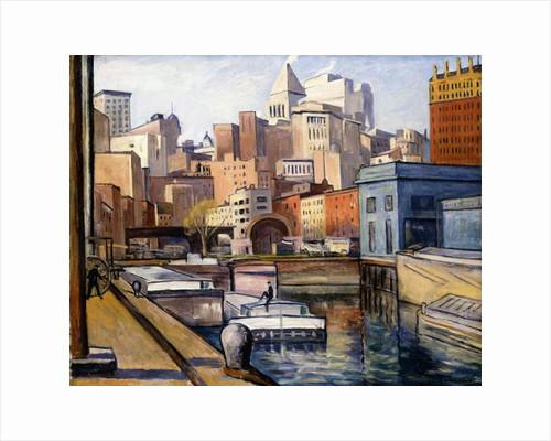 Downtown, 1922 by Samuel Halpert