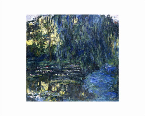 View of the Lilypond with Willow, c.1917-1919 by Claude Monet