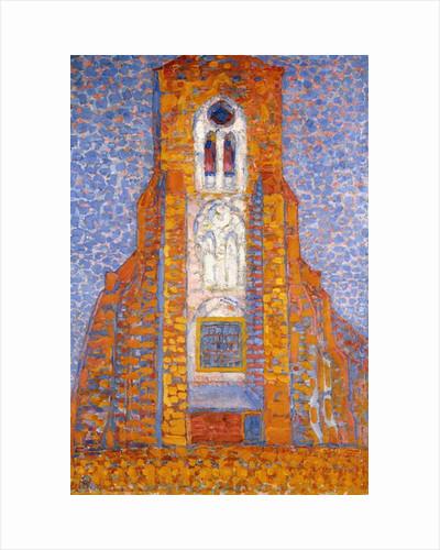 Church of Eglise de Zoutelande, 1910 by Piet Mondrian