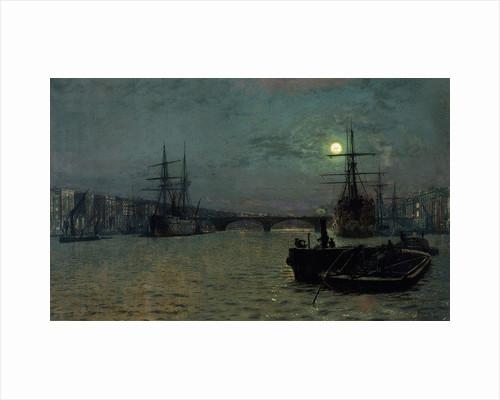 London Bridge - Half Tide, 1884 by John Atkinson Grimshaw