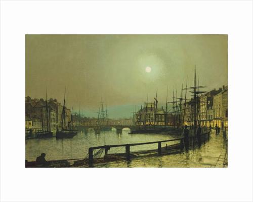 A Moonlit Harbour, 1883 by John Atkinson Grimshaw