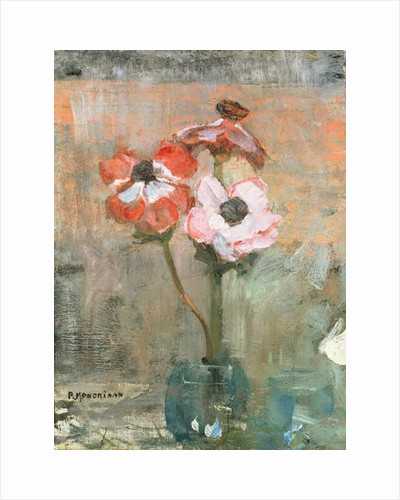Anemones in a Vase, c.1908-09 by Piet Mondrian