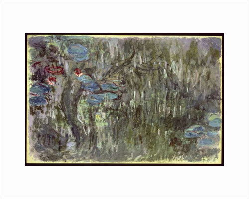 Waterlilies with Reflections of Willows, c.1920 by Claude Monet