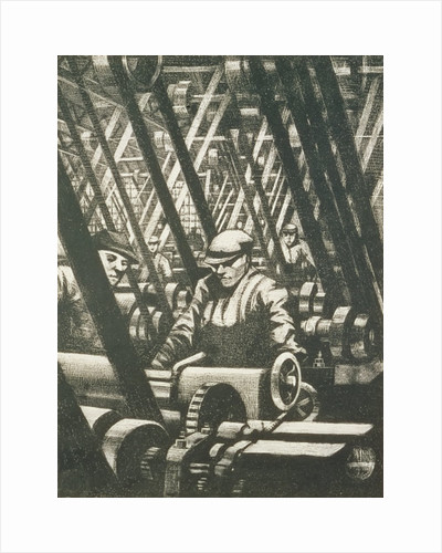 Making the engine, 1917 by Christopher Richard Wynne Nevinson