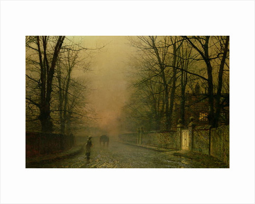 Where the pale moonbeams linger by John Atkinson Grimshaw