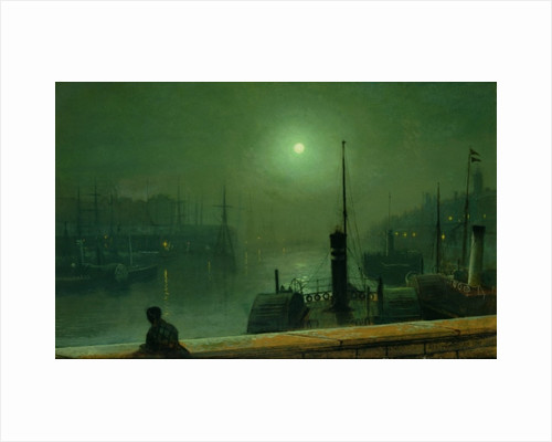 On the Clyde, Glasgow, 1879 by John Atkinson Grimshaw