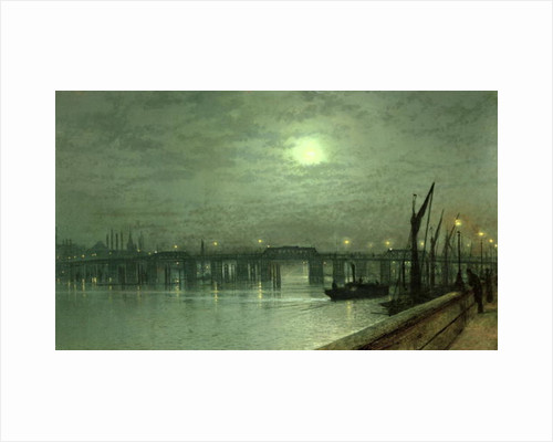 Battersea Bridge by Moonlight by John Atkinson Grimshaw