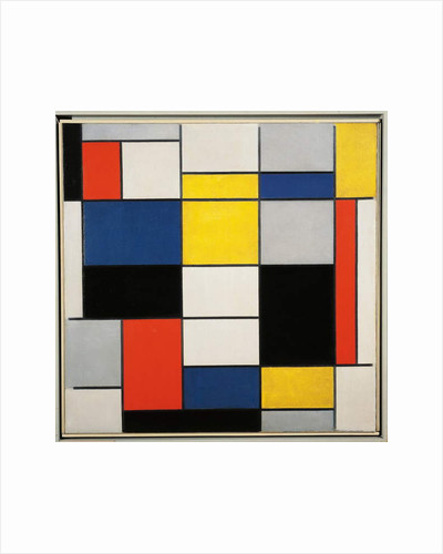 Large Composition with Black, Red, Grey, Yellow and Blue, 1919-1920 by Piet Mondrian