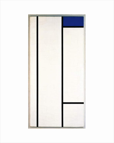 Vertical composition with blue and white, 1936 by Piet Mondrian