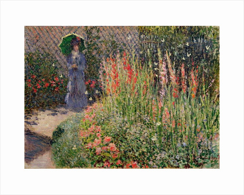 Rounded Flower Bed, 1876 by Claude Monet