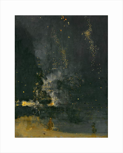Nocturne in Black and Gold, the Falling Rocket, 1875 by James Abbott McNeill Whistler