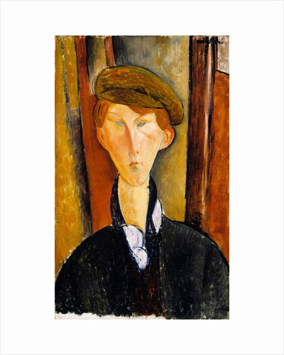 Young man with cap, 1919 by Amedeo Modigliani