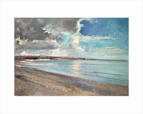 Reflected Clouds, Oxwich Beach by Timothy Easton