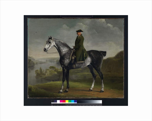 Joseph Smyth Esquire, Lieutenant of Whittlebury Forest, Northamptonshire, on a Dapple Grey Horse, c.1762-64 by George Stubbs