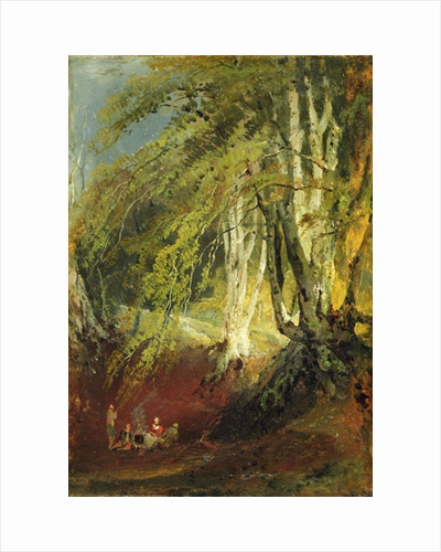 A Beech Wood with Gypsies Seated Round a Campfire by Joseph Mallord William Turner