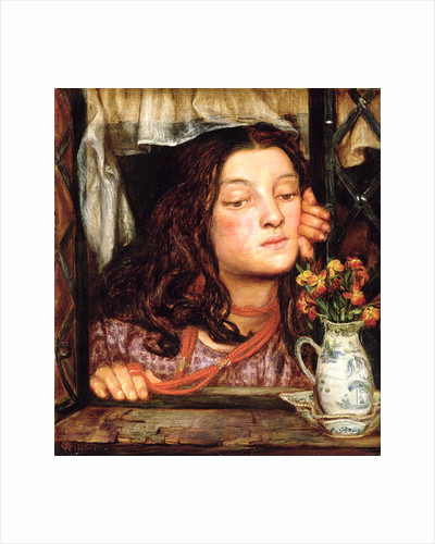 Girl at a Lattice by Dante Gabriel Charles Rossetti