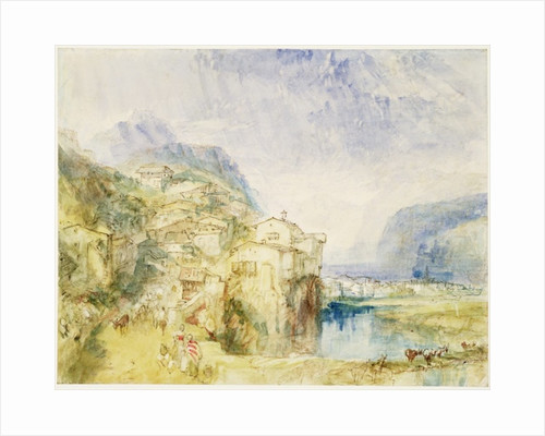 Brunnen, with Lake Lucerne in the distance by Joseph Mallord William Turner