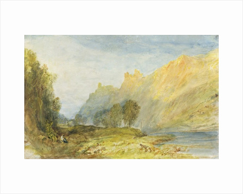 Bruderburgen on the Rhine by Joseph Mallord William Turner