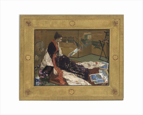 Caprice in Purple and Gold: The Golden Screen, 1864 by James Abbott McNeill Whistler