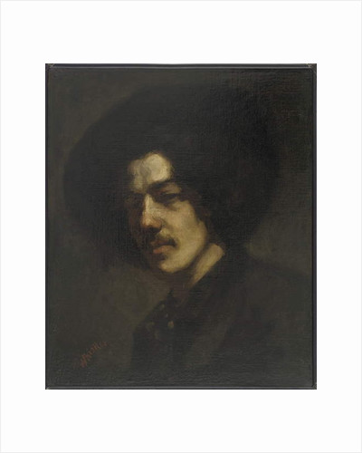 Portrait of Whistler with a Hat, 1857-59 by James Abbott McNeill Whistler