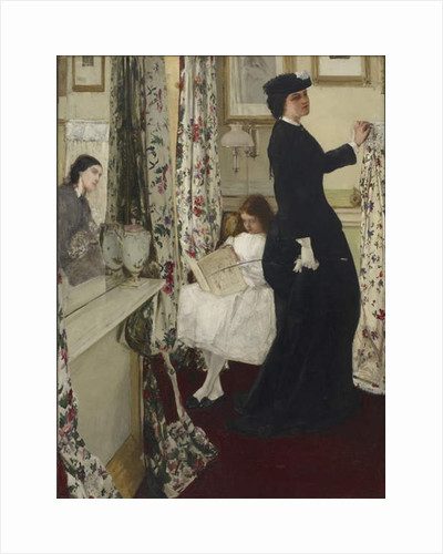 Harmony in Green and Rose: The Music Room, 1860-61 by James Abbott McNeill Whistler