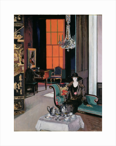 Interior: The Orange Blind by Francis Campbell Boileau Cadell