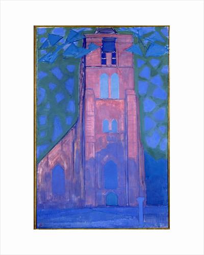Church tower at Domburg, 1911 by Piet Mondrian