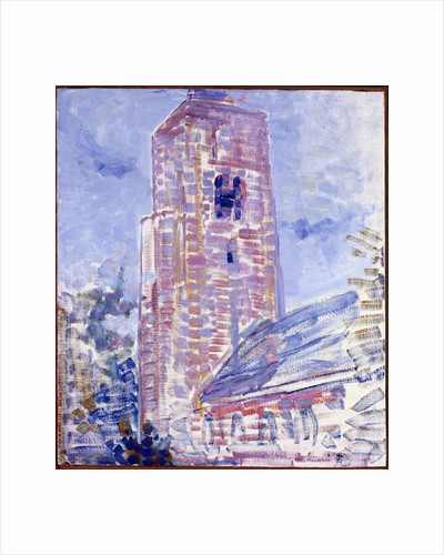 Church at Oostkapelle, Nave and Tower, 1909 by Piet Mondrian