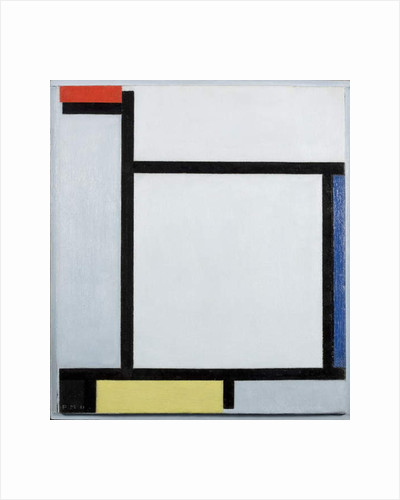 Composition with red, blue, black, yellow and grey, 1921 by Piet Mondrian