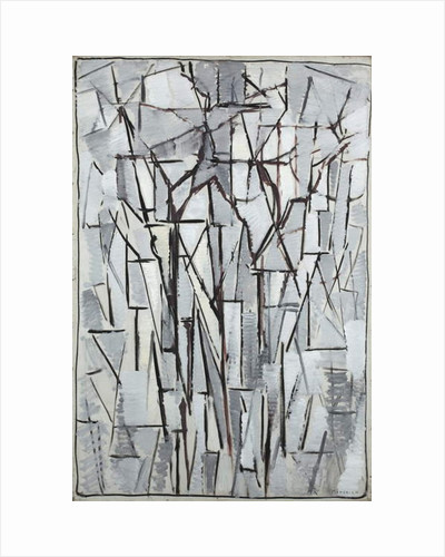 Composition trees 2, 1912-13 by Piet Mondrian