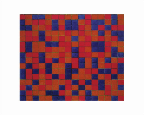 Composition with Grid 8: Checkerboard Composition with Dark Colours, 1919 by Piet Mondrian