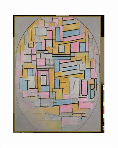 Composition in Oval with Colour Planes 2, 1914 by Piet Mondrian