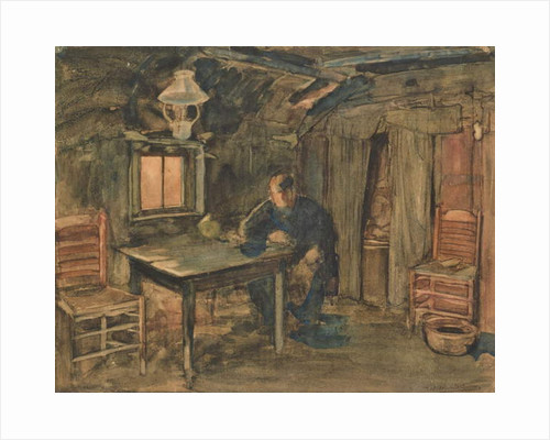 Hannes Van Nistelrode Seated in His Farmhouse, 1904 by Piet Mondrian