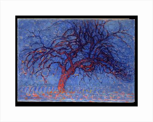 Avond: The Red Tree, 1908-10 by Piet Mondrian