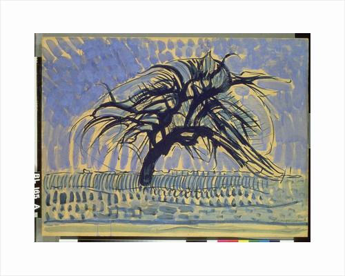 Apple Tree in Blue, 1908-09 by Piet Mondrian