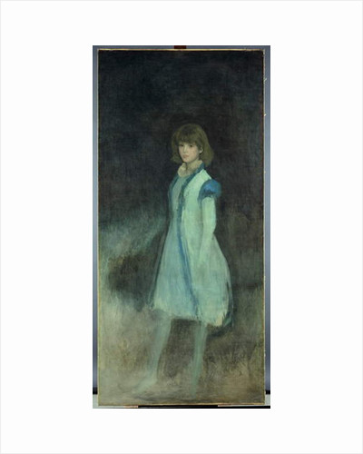 The Blue Girl: Portrait of Connie Gilchrist, c.1879 by James Abbott McNeill Whistler