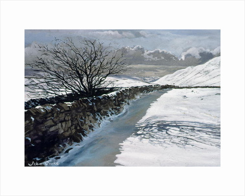 Snow Above Barbondale, Barbon, nr Kirby Lonsdale, Cumbria by John Cooke