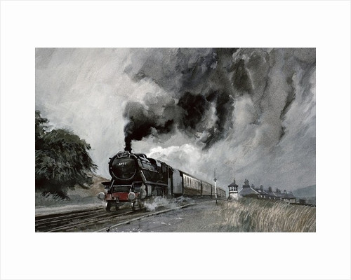 Steam Train at Garsdale, Cumbria by John Cooke